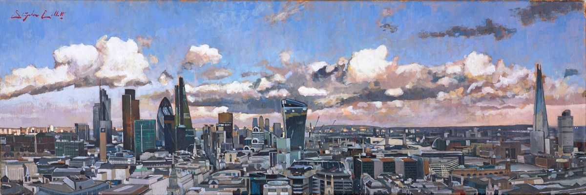 London II by stephen collett -  sized 47x16 inches. Available from Whitewall Galleries